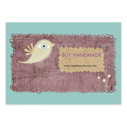 La flor cosida cordón del pájaro del oro de la bay plantillas de tarjetas personales