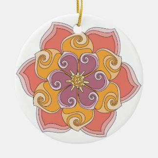 La flor de Annette Adornos De Navidad
