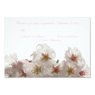 """La flor de cerezo blanca florece casando la invitación 3.5"""" x 5"""""""