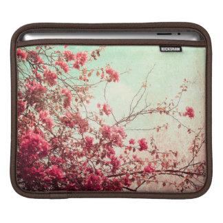 La flor de cerezo florece el bolso floral del funda para iPads