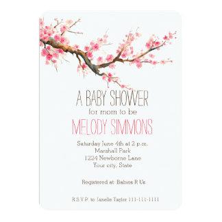 """La flor de cerezo florece la fiesta de bienvenida invitación 5"""" x 7"""""""
