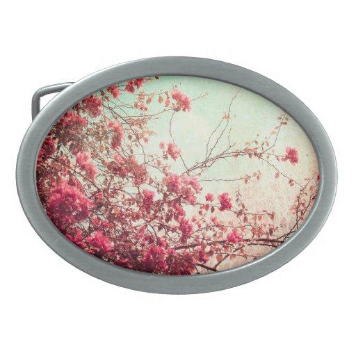 La flor de cerezo florece la hebilla del cinturón hebillas de cinturón
