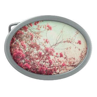 La flor de cerezo florece la hebilla del cinturón hebilla de cinturon oval