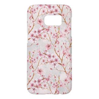 La flor de cerezo florece las floraciones del rosa funda samsung galaxy s7