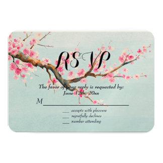 """La flor de cerezo florece RSVP Invitación 3.5"""" X 5"""""""