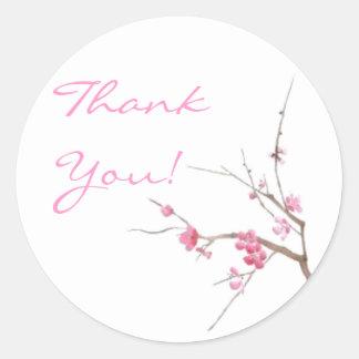 La flor de cerezo le agradece pegatina