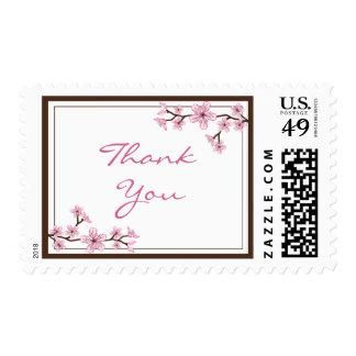 La flor de cerezo le agradece sella sellos
