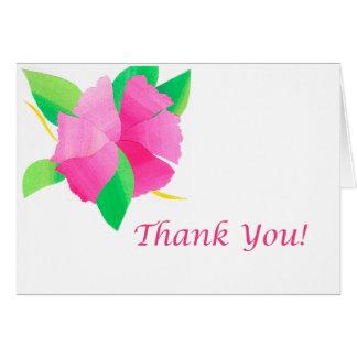 La flor de cerezo le agradece tarjeta