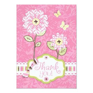 """La flor de la Applique-mirada le agradece cardar Invitación 5"""" X 7"""""""