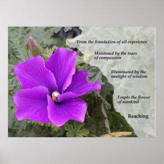 La flor de la humanidad póster