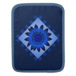 La flor de la margarita azul, modelo raya la manga mangas de iPad