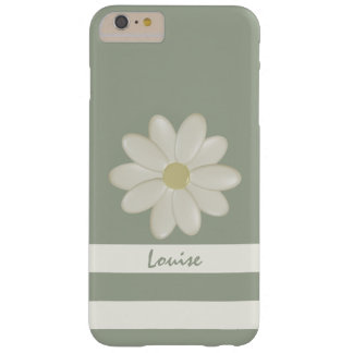 La flor de la margarita raya el iPhone 6/6s más el Funda De iPhone 6 Plus Barely There