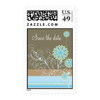 La flor de la nieve remolina reserva del azul el f sellos