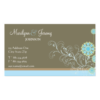 La flor de la nieve remolina tarjeta de encargo az tarjeta de visita