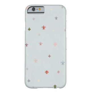 La flor de lis - colores en colores pastel del funda para iPhone 6 barely there