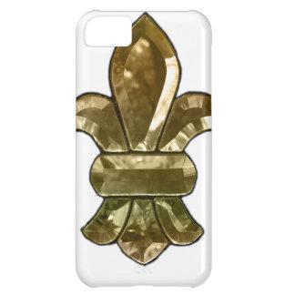 La flor de lis de New Orleans añade el texto y lo  Funda Para iPhone 5C