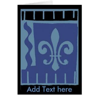 La flor de lis Matisse azul, añade el texto aquí Tarjeta De Felicitación