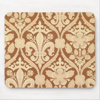 """La """"flor de lis"""", papel pintado de la reproducción tapetes de ratones"""