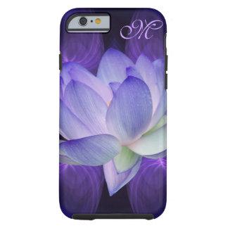 La flor de loto púrpura personaliza funda de iPhone 6 tough