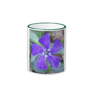 La flor de molinillo de viento púrpura tazas de café