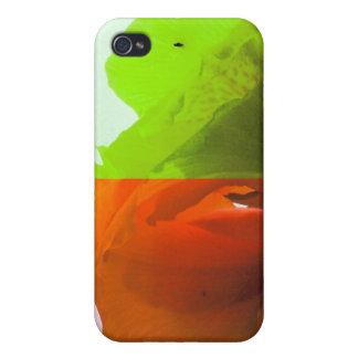 La flor del arte pop en diverso color quads mirada iPhone 4 fundas