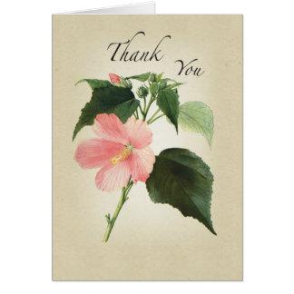 La flor del hibisco religiosa le agradece felicitación