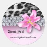 La flor del lirio del pegatina del leopardo de la