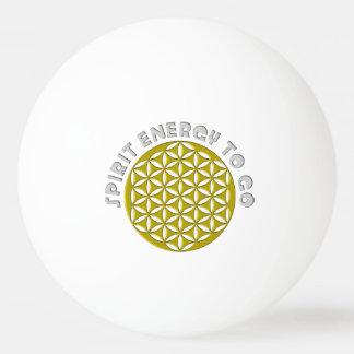 La flor del oro de la vida perforó - el alcohol pelota de tenis de mesa