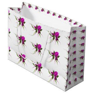 La flor del vector tejó el bolso grande del regalo bolsa de regalo grande