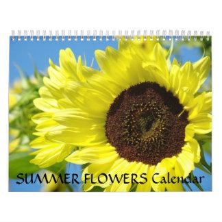 La flor del verano del CALENDARIO hace calendarios