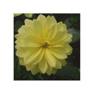 La flor deslumbra impresión en madera