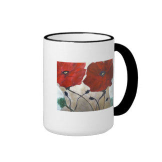 La flor diseñó la taza de café