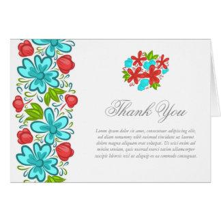 La flor elegante le agradece tarjeta de