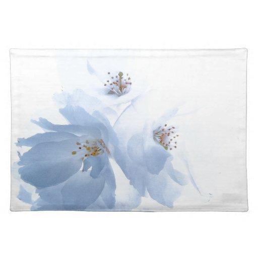 La flor florece americano MoJo de Placemats Mantel Individual