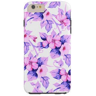 La flor fresca florece estilo de la teja funda resistente iPhone 6 plus