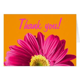 La flor fucsia de la margarita agradece le o perso tarjeta pequeña