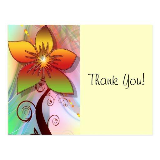 La flor le agradece cardar tarjeta postal