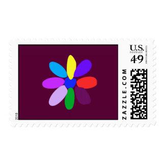 La flor más simple sello postal