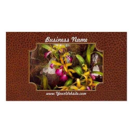 La flor - orquídea - allí es algo sobre orquídeas tarjetas de visita