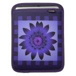 La flor púrpura de la margarita, modelo raya la ma fundas para iPads