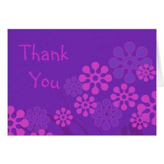 La flor púrpura le agradece tarjeta