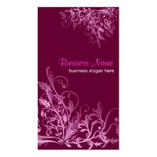 La flor retra elegante de Cyclam remolina 2 Plantilla De Tarjeta Personal