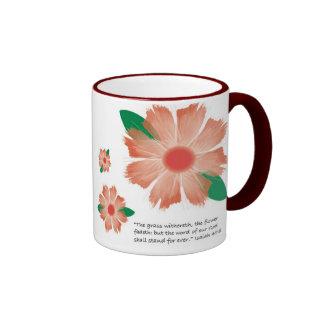 La flor roja se descolora -- Variación 1 Tazas