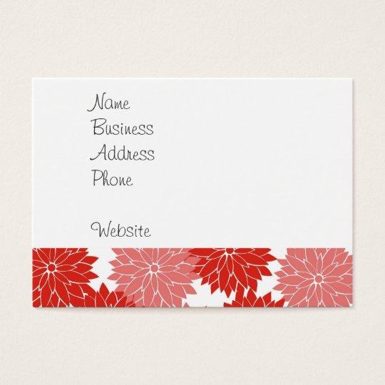 La flor roja y rosada florece impresión floral tarjetas de visita grandes