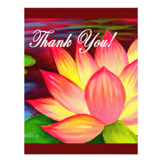 La flor rosada del lirio de agua de Lotus le agrad Tarjetas Publicitarias