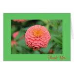 La flor rosada le agradece cardar felicitación