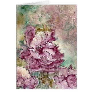 """""""La flor rosada"""" que pinta Tarjeta De Felicitación"""