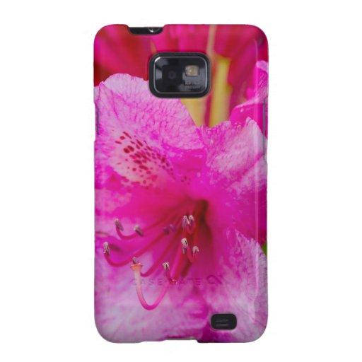 La flor rosada solitaria samsung galaxy s2 carcasas