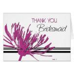 La flor rosada y negra le agradece tarjeta de la d