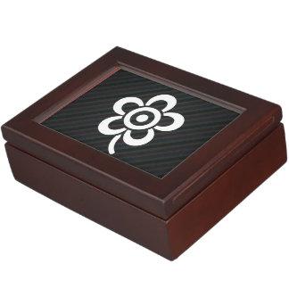 La flor saca el polvo de símbolo caja de recuerdos